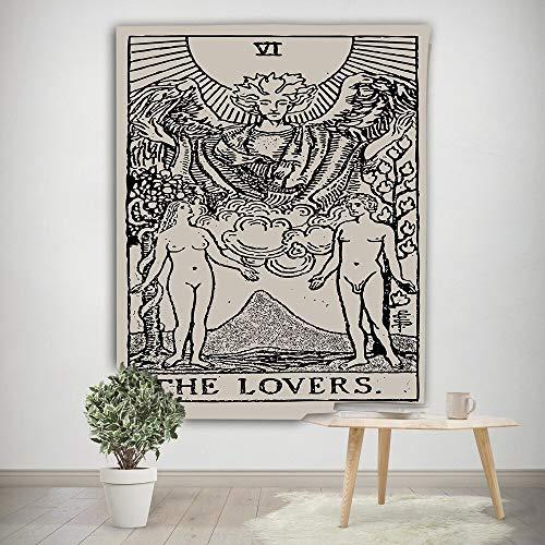 WERT Tarot Sol y Luna Patrón Manta Tarot Indio Mandala Tapiz Colgante de Pared Bohemia Gypsy Home Dormitorio Decoración Tapiz A21 150x200cm