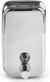 LEORX 500ml Dispensador de jabón líquido dispensador Champú jabón (plata)