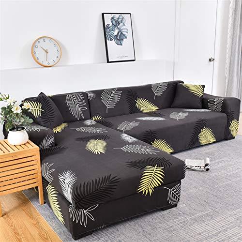 kengbi Funda de sofá duradera y fácil de limpiar para sofá seccional, fundas de sofá de esquina para mascotas, funda de sofá elástica para sala de estar, funda de sofá de poliéster elástico