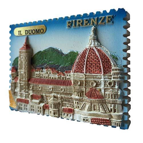 Weekinglo Souvenir Imán de Nevera Firenze Duomo Italia 3D Resina Artesanía Hecha A Mano Turista Recorrido de Recuerdos de la Ciudad Carta de Colección Etiqueta de Refrigerador