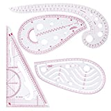 Abbigliamento moda righello, 4pezzi francese metrico righello curva di plastica a forma di classificazione righelli, per cucire modello disegno design da sartoria, multiuso, righello da taglio