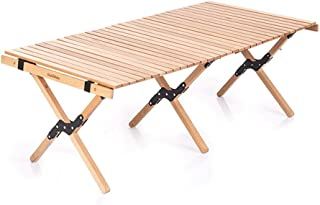 Portable Folding Table Outdoor Solid Wood Egg Roll Folding Table Portable Folding Table Car Outdoor Camping Picnic Table S...