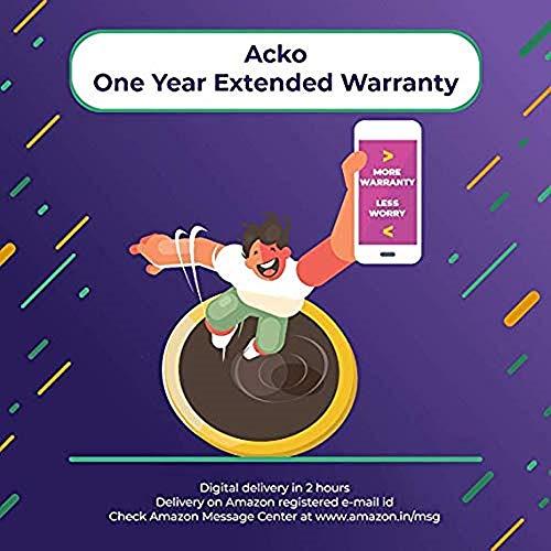Acko 1 Year Extended Warranty for Washing Machine, Refrigerator, Dishwasher & Camera below to 10,000...