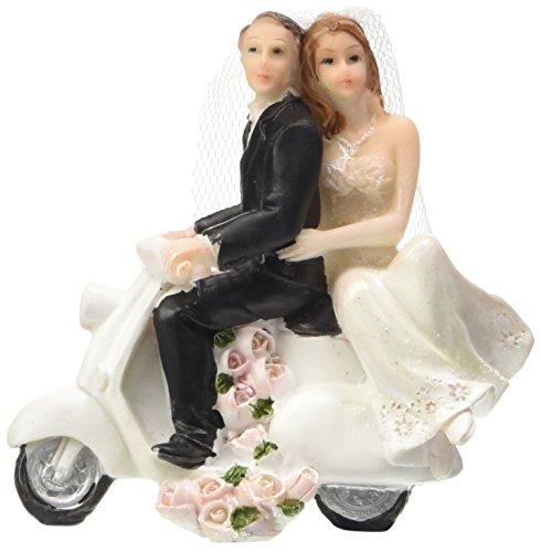 NEU Deko-Figur Hochzeitspaar auf Roller, 1 Stück