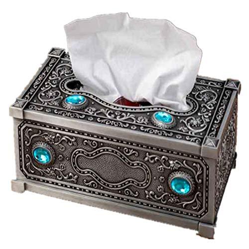AnnoMetal creativo extraíble tejido caja de estilo europeo lujo salón comedor baño hogar cajón bandeja