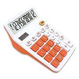 Mengshen Calcolatrice di Base per Ufficio Batteria Solare a Doppia Alimentazione Calcolatrice dedicata finanziaria Display a 12 cifre Calcolatrice Aziendale Desktop di Grandi Dimensioni Standard