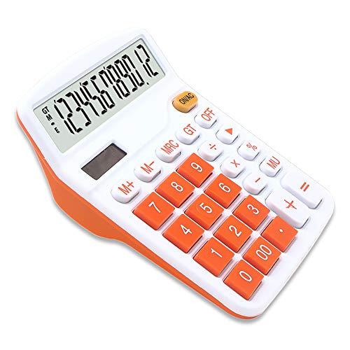 Mengshen Calculadora Básica de Office Batería Solar Dual Power Calculadora financiera dedicada Pantalla de 12 dígitos Función estándar Grande Calculadora Comercial de Escritorio Multifuncional
