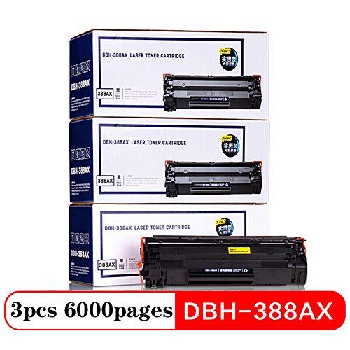 XUE-shelf DAP-388AX3 Negro Cartucho de tóner 3 Piezas, 88A Cartucho de tóner de Gran Capacidad de la Impresora (para HP P1007 P1106 M1136 M1213nf M1216nfh)