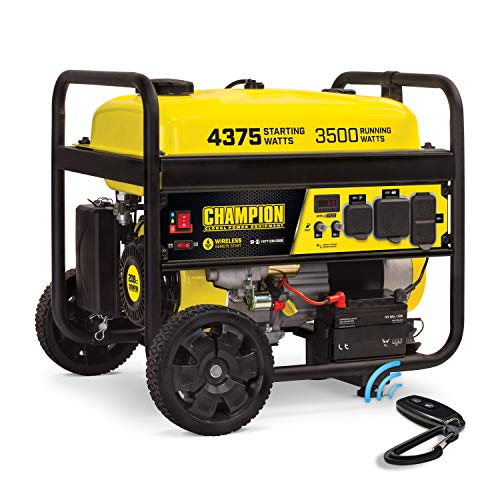 Champion 3500 Watt Portable Generator | Wireless Remote Start | 12 Hour Run Time | Volt Guard Built-in Surge Protector | NOT for Sale in California