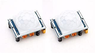 DEVMO 2PCS Pyroelectric Infrared IR PIR Motion Sensor Detector Module HC-SR501 Arduino