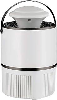 Ouuc 電気蚊飛ぶ昆虫のザッパーキラートラップランプ付きケミカルフリーUSB電源スマートライトコントロールUV LED屋内フライペストキャッチャー用ホームキッチンパティオヤード放射線なし超静か (Color : White)