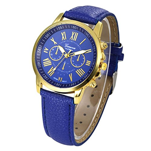 Xinantime Relojes Pulsera Mujer,Xinan Cuarzo Romana Cuero de Imitación Relojes Regalo (Azul)