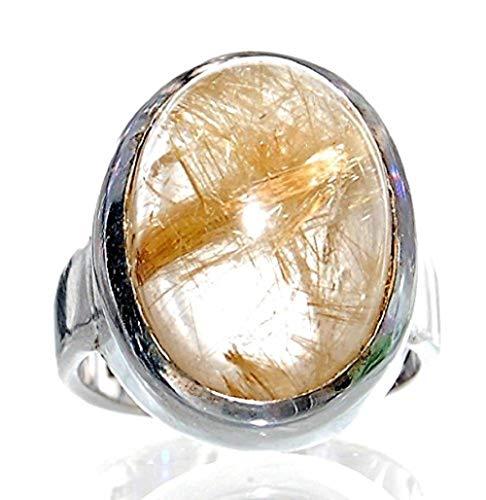 Rutilquarz Ring Unikat Gr.54