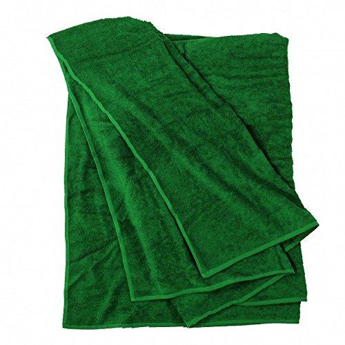 Toalla de playa tallas grandes XXL - Verde oscuro - 155x220cm -...