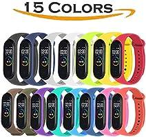 Acalder Correa para Xiaomi mi Band 4, Pulseras Reloj Coloridos Silicona Banda Reemplazo para Xiaomi Mi Band 3/4,...