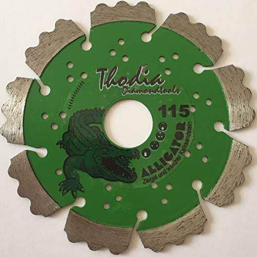 2 Stück Ø115 / 22,23 Thodia Diamanttrennscheibe Diamantscheibe Laser Alligator Abrasiv für Winkelschleifer, Flex, Mauernutfräse, Fugenfräse