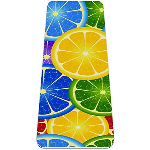 nakw88 Alfombrilla de yoga antideslizante para yoga, pilates y ejercicios de piso, 183 x 61 x 6 mm, color naranja
