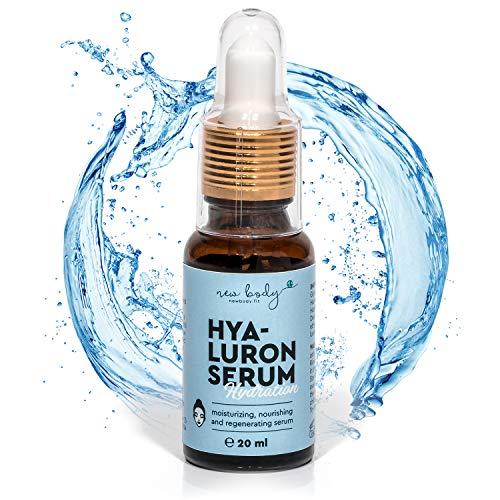new body® Hyaluron Serum - 20 ml hochdosierte Hyaluronsäure - schnell einziehende naturliche Anti-Aging Gesichtspflege