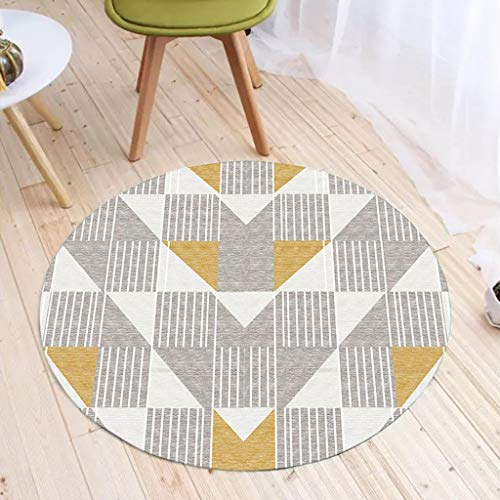 Jian E Bureaustoel, beschermmat, koraalmat, velours, rond, zacht, modern, driehoekig ontwerp, meerdere maten