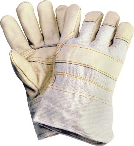 120 Paar Leder-Handschuhe/Arbeitshandschuhe Polsterleder, hell, Köperrücken hell, Gr. 10