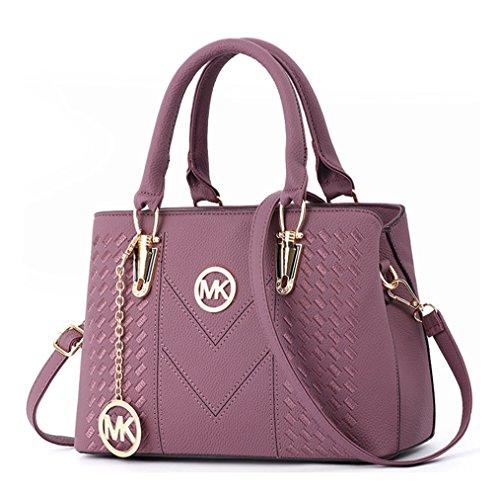 Alidear Pu Cool Damen Handtaschen, Hobo-Bags, Schultertaschen, Beutel, Beuteltaschen, Trend-Bags, Velours, Veloursleder, Wildleder, Tasche Lila