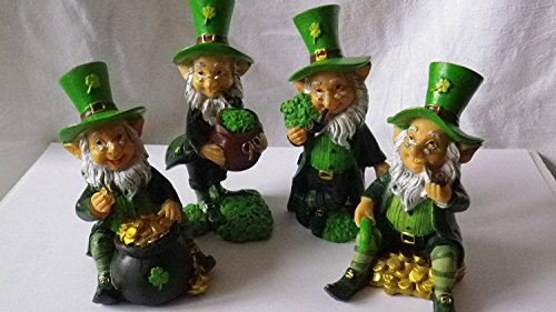Dochsa Life Fun Mini Collectable Leprechaun Figurines, Height 9-11cm Width 5cm Depth 3-6cm, Mixed