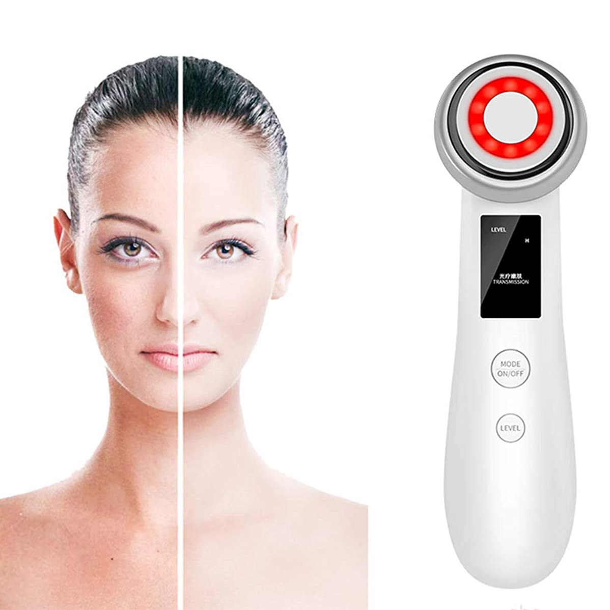 マカダム配偶者起業家皮膚は顔のリフティング用LEDレッドライト、スキンファーミング、皮膚の調色、ディープクレンジング、注入、マッサージでリラックスして美容機器を締め