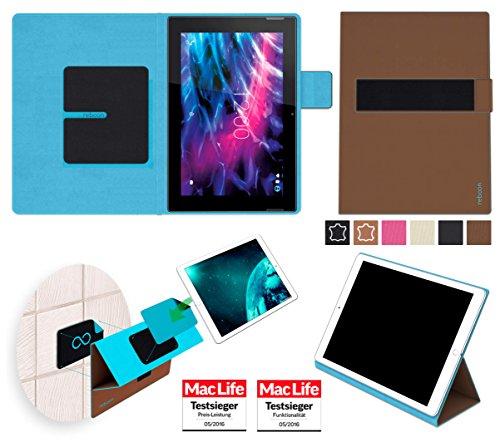 Hülle für Medion Lifetab S10366 Tasche Cover Case Bumper | in Braun | Testsieger