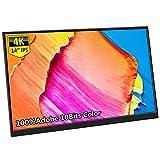 Coekea 14インチモバイルモニター 4K解像度 3840*2160 モバイルディスプレイ Adobe RGB 100%色域 IPSパネル 狭額デザイン 薄型 軽量 USB Type-C/Mini HDMI/Mini DP スタンド付