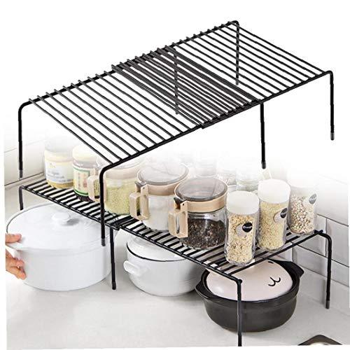 Adore store Armario de la Cocina Estante Rejilla metálica autoportante Estante de la Cocina Estante de Almacenamiento Ampliable Plataforma para armarios de Cocina, encimeras, despensas