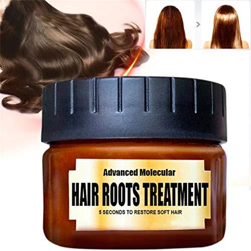 wyxhkj Revitalisants capillaires Masque Après-shampooings Cheveux Secs et Abîmés Détoxifiant Cheveux Traitement Avancé Moléculaire pour Cheveux Traitement Récupération Élasticité Cheveux 60ML (A)