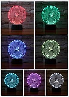 Zller2587 3D optische Täuschung Nachtlicht FC Erzgebirge Aue Smart 7 Farben LED Touch Tischlampe für Kinder Geburtstag Weihnachten Valentinstag Geschenk