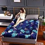 Colchoneta de futón, de algodón, antideslizante, plegable, transpirable, respetuosa con la piel, para dormitorio, dormitorio de estudiantes japoneses, 1,5 x 2 m