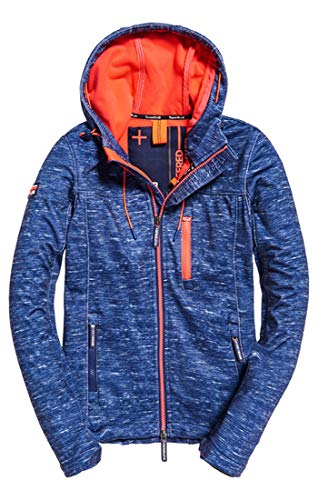Superdry Damen Hooded Windtrekker Sportjacke, Blau (Navy Slub/Coral Bliss Xe9), X-Small (Herstellergröße: 8.0)