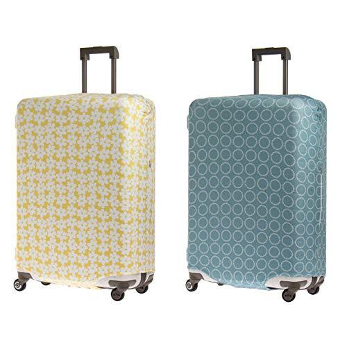 &P スーツケース/キャリーケースカバー NV1874(サイズはありません キ:ブルー(サークル))