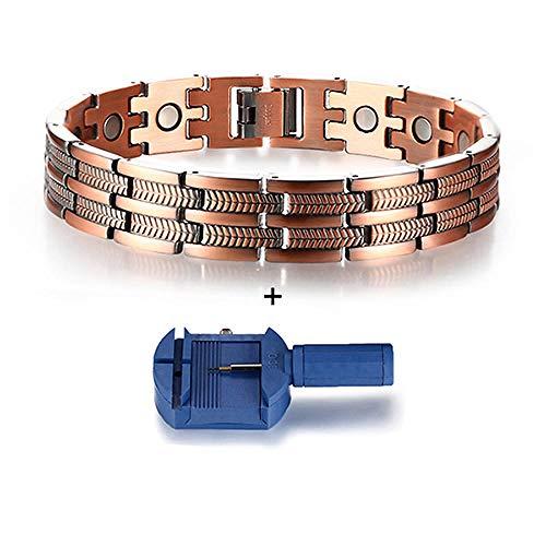 JPDP Vintage Magnetic Bracelet for Men Pure Copper Bangle Health Health-21_5cm_tool