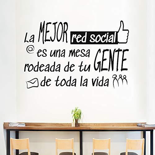 "Docliick® Frase Vinilo para cocina o restaurante""LA MEJOR RED SOCIAL"" Vinilos decorativos Docliick DC-18042 (Vinilo de corte, 30x20cm)"