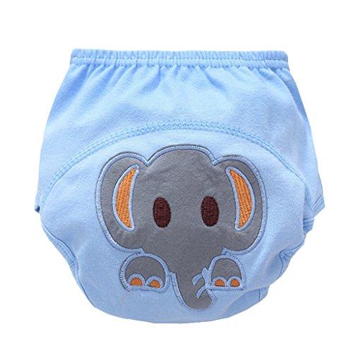 perfeclan Pantalon Cartoon Coton Lavable Nappy Couche Enfant Enfant Toddler - éléphant, 80 (11 kg)