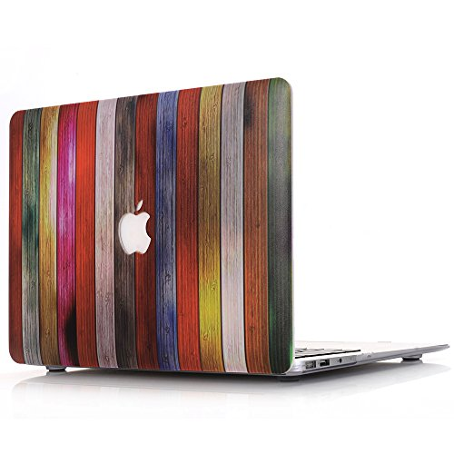 Custodia MacBook Pro 13 Retina Case,L2W [Legno Serie] Cover per Apple MacBook Pro 13.3' con Retina Display A1502 / A1425 (NO DVD-ROM Drive)(Pattern colorato del tessuto di legno MW-3)