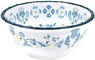 Les Jardins de la Comtesse - Saladier Profond en Mélamine Pure Bleu/Beige - Saladier décoré Intérieur/Extérieur du Service...