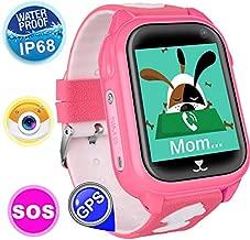 Kids Smart Watch Phone for Kids Girls Boys Teens with GPS Locator Wrist Smartwatch Waterproof Outdoor Sport Watch Game Anti-lost SOS Alarm Clock Bracelet Birthday Christmas Holiday Toy Gift