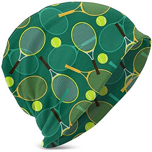 Racchette e Palline da Tennis Berretto per Bambini alla Moda Cappello da Ragazzo Carino Cappello da Bambina Lavorato a Maglia
