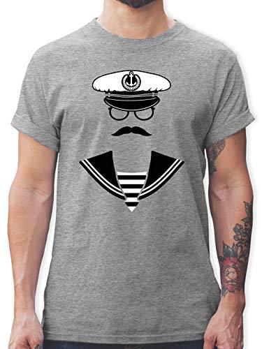 Shirtracer Schiffe - Matrose - M - Grau meliert L190 - Tshirt Herren und Männer T-Shirts