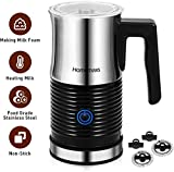 Homemaxs Milk Frother, Electric Milk Frother, Automatic Milk Frother & Warmer, Food Grade Stainless Steel Jug, Non-Stick, Auto shut-off