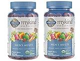 MyKind Organics Men's Multi Whole Food, Organic Vitamin Chews in Delicious Organic Berry (120 Vegan Gummy Drops) Pack of 2