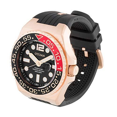 Otumm Scuba Unisex Uhr Analog mit Schwarz Silikon Armband SCRG52-001