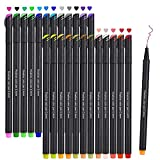 Fineliners Pens, Beupro Fineliner Color Pen Set Sketch Writing Drawing Pens for Bullet Journal Note Taking and...