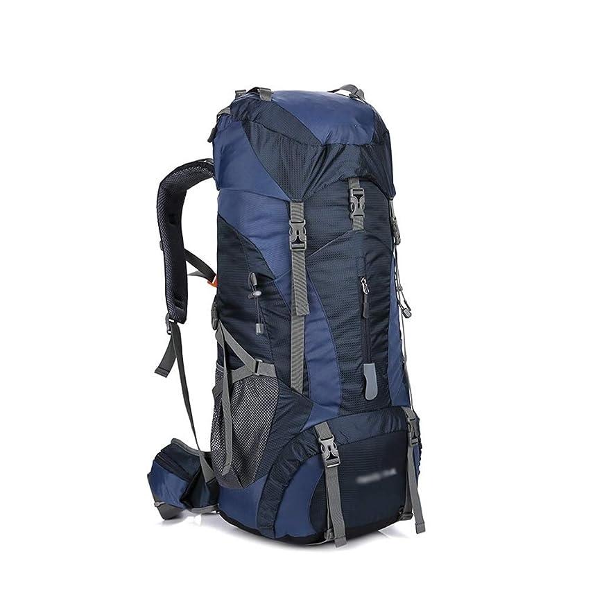 絶えず適応的パプアニューギニアハイキングバックパック 75Lハイキングデイパックリュックアウトドアスポーツ防水バックパックのラップトップバッグ、リップストップナイロン、防水レインカバー、バックパッキング、キャンプ、旅行 軽量 (Color : D)