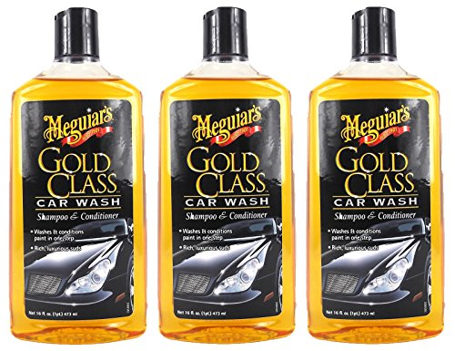 Meguiar's 3X MEGUIARS Gold Class Shampoo Autoshampoo Autopflege 473 ml