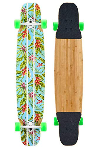 Grist CC Longboard Skateboard Ahornholz Board - Dancing Web Celebrity Komplettboard mit RS1High Speed Kugellager